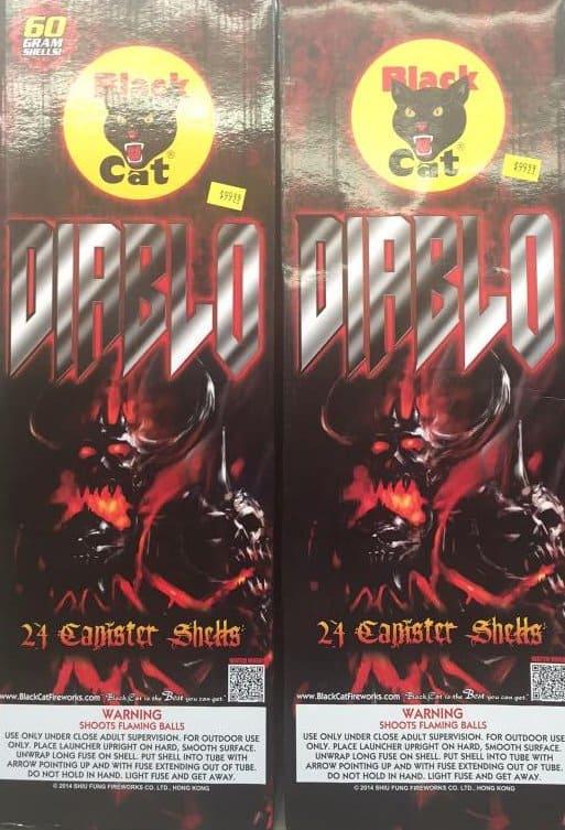 Diablo Fireworks Black Cat